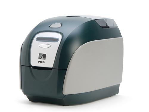 Impresora de tarjetas plásticas Zebra P100i 1