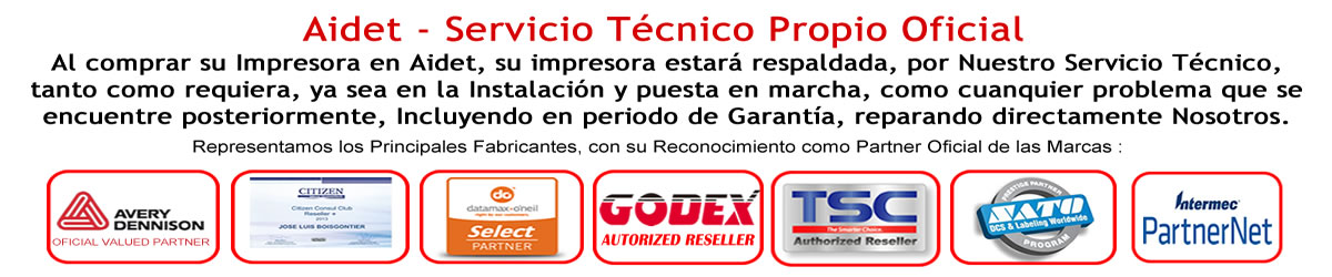 Servicio Técnico TSC, Datamax, Godex, Honeywell, Bixolon