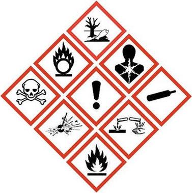 Etiquetas para Productos Quimicos Pictogramas