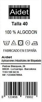 Etiqueta Textil Poliamida