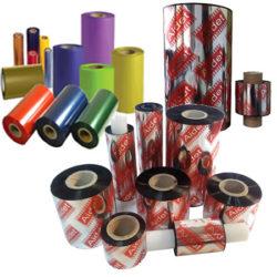Ribbon Textil Resina Gran Resistencia, Negro Colores, Oro, Plata, Cobre, Blanco