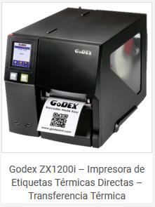 Impresora Etiquetas Textil Industrial Godex ZX1200i