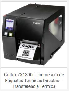 Impresora Etiquetas Textil Industrial Godex ZX1300i